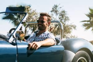 Driver in Classic Car