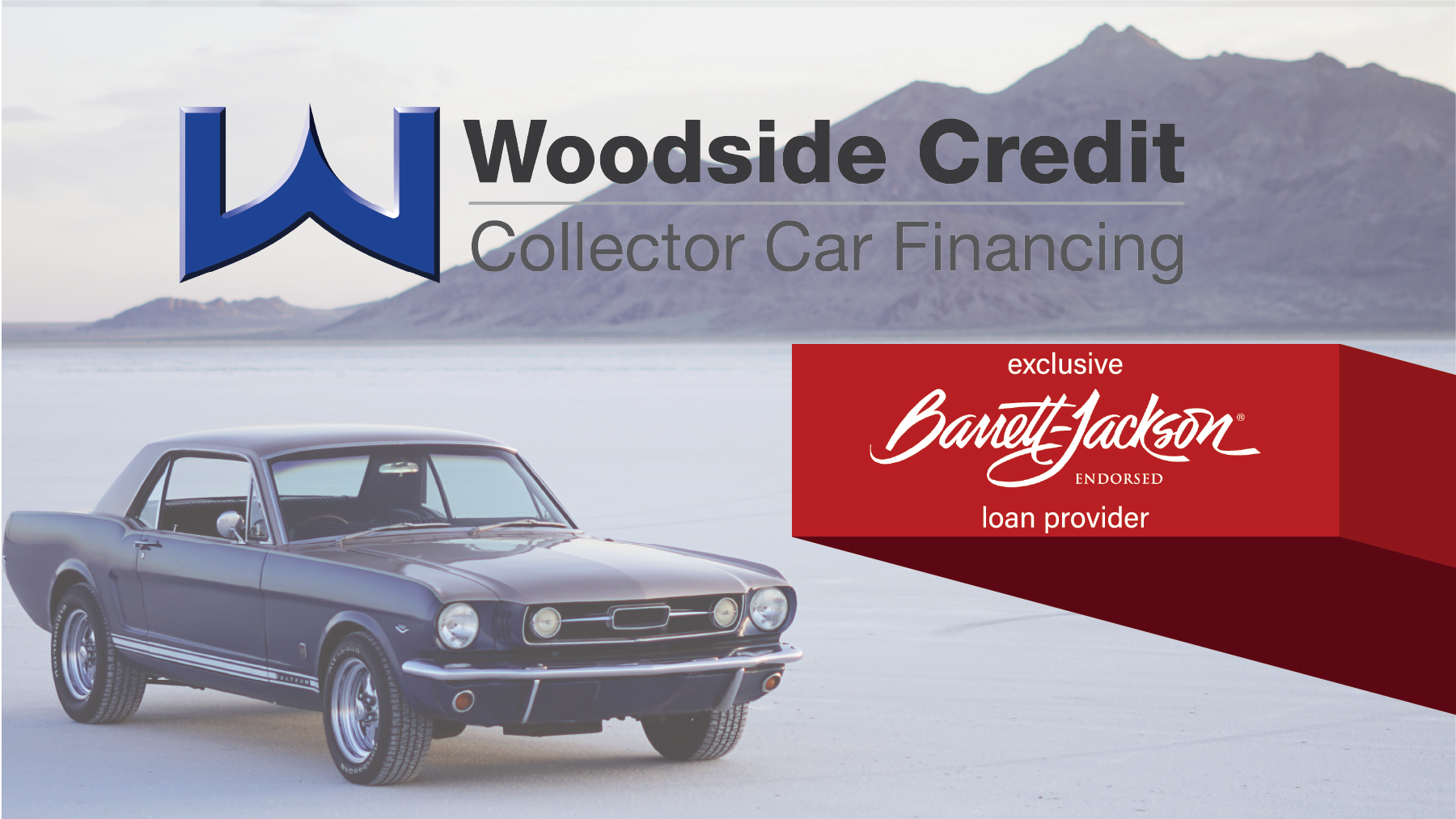 Woodside Credit Signs 4-Year Exclusive Endorsement as Barrett-Jackson's Collector Car Loan Provider